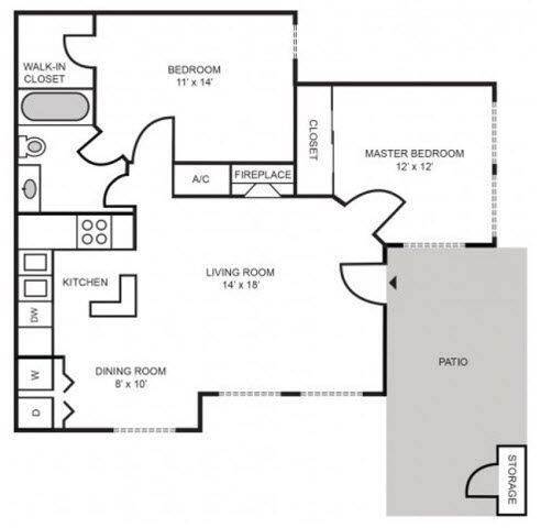 Floorplan Providence Renovated layout