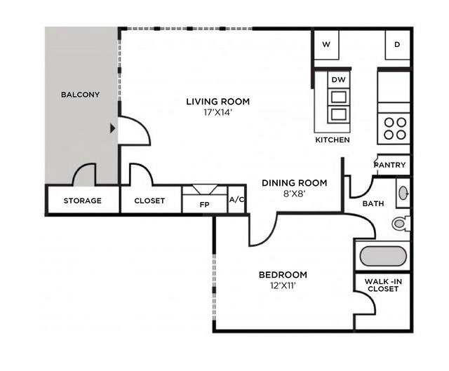 A 2D drawing of the Nantucket Renovated floor plan