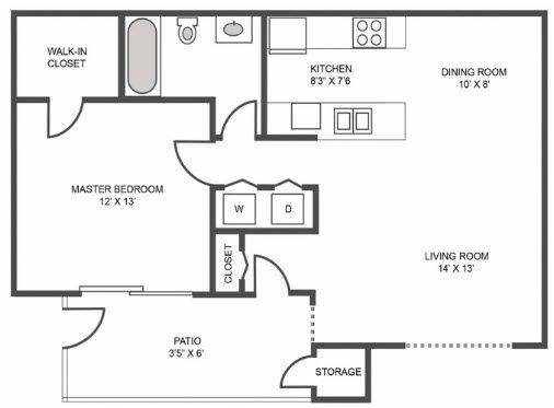 A 2D drawing of the Wynward floor plan