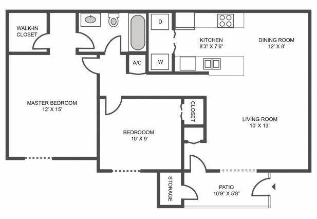 Floorplan Water Way Renovated layout