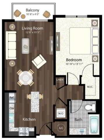 Floorplan Palermo layout