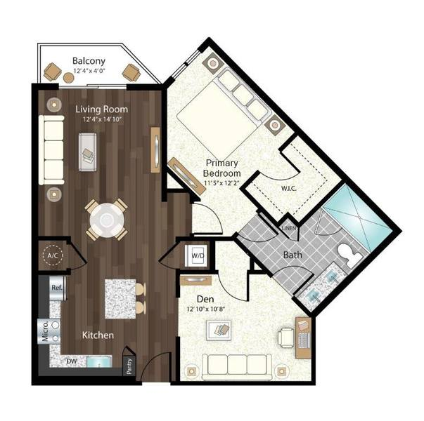 A 2D drawing of the San Martino floor plan