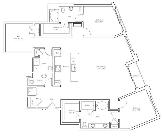 A 2D drawing of the Bellefontaine floor plan