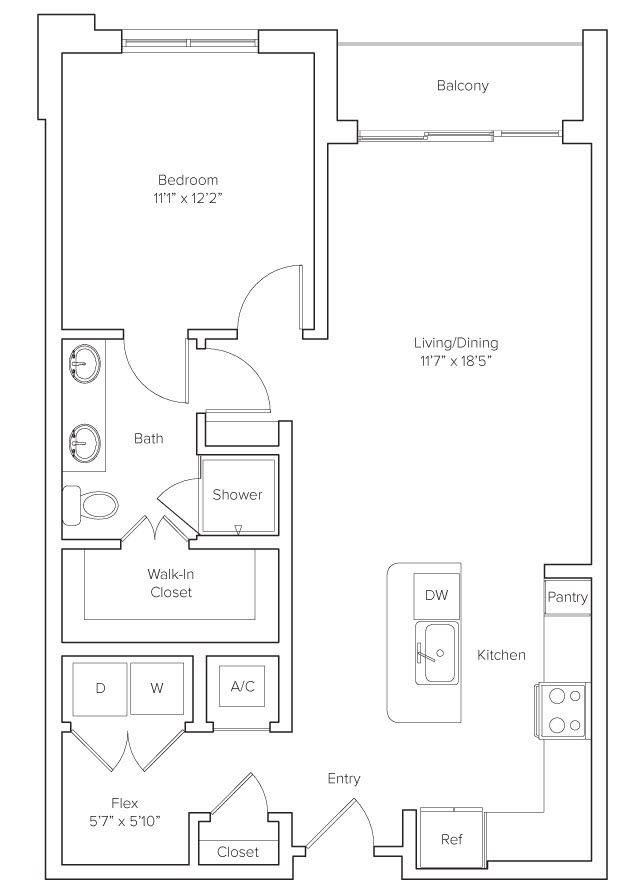A 2D drawing of the Greenbriar floor plan