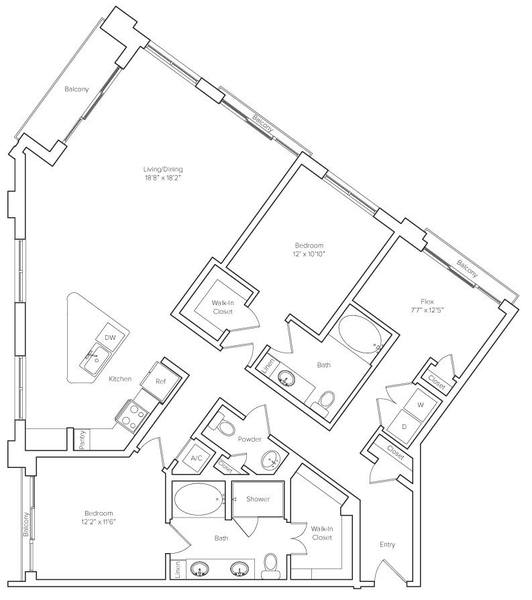 A 2D drawing of the Morningside floor plan