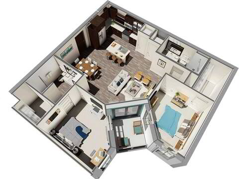 Floorplan Aurora layout