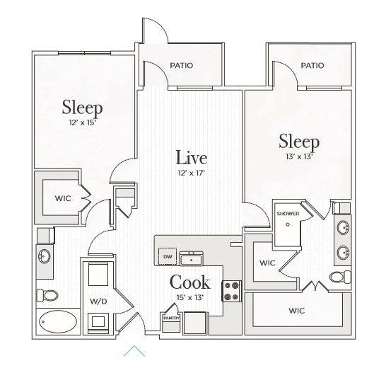A 2D drawing of the Matteo I floor plan
