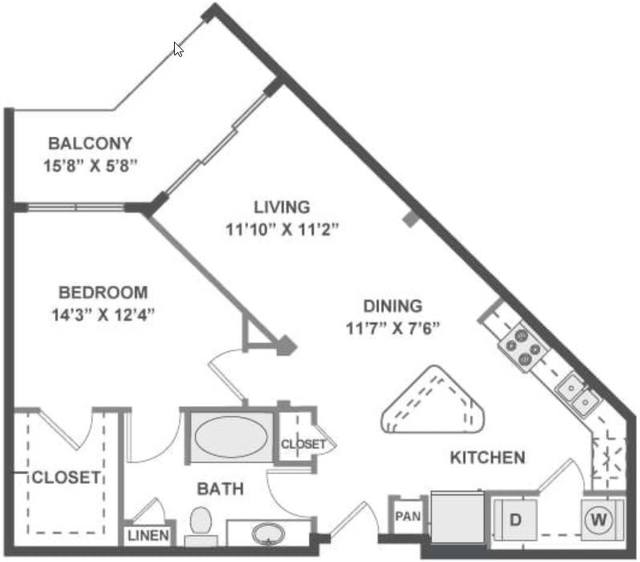 A 2D drawing of the Allegro floor plan