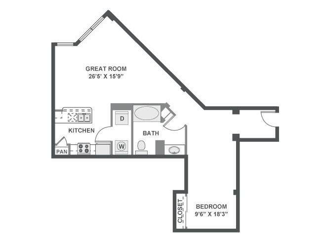 A 2D drawing of the Maestro floor plan