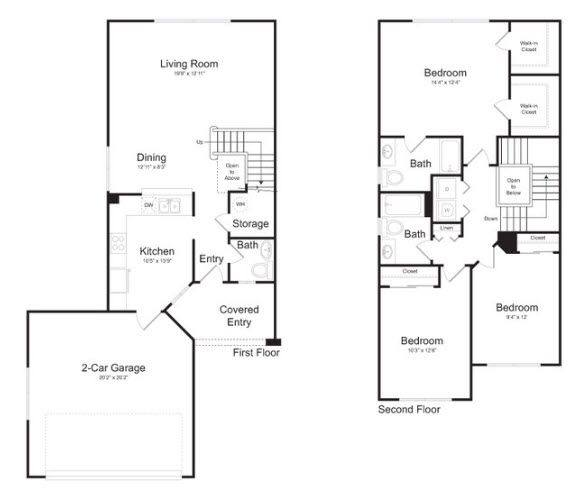 A 2D drawing of the Palm Beach  floor plan