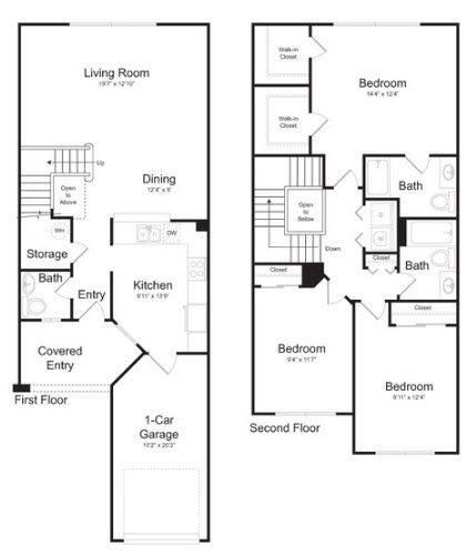 A 2D drawing of the Ocala floor plan