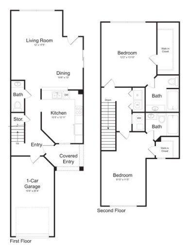 A 2D drawing of the Naples floor plan