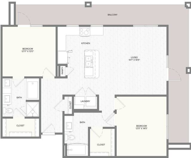 A 2D drawing of the B4A floor plan