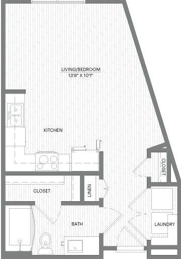 A 2D drawing of the E4 floor plan