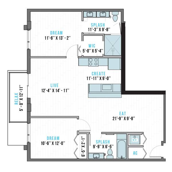A 2D drawing of the T-13 floor plan
