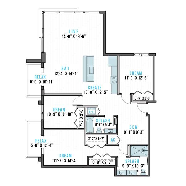 A 2D drawing of the U-3 floor plan