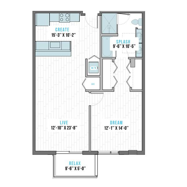A 2D drawing of the R-2B Mirror  floor plan