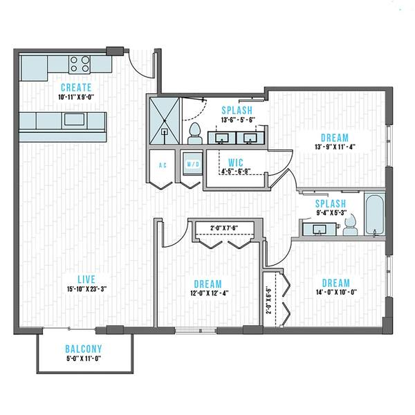 A 2D drawing of the U-1 floor plan