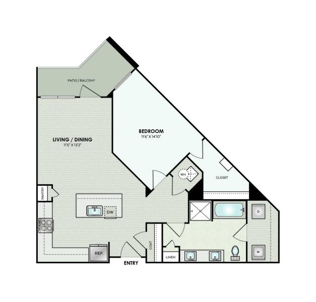 A 2D drawing of the A7A floor plan