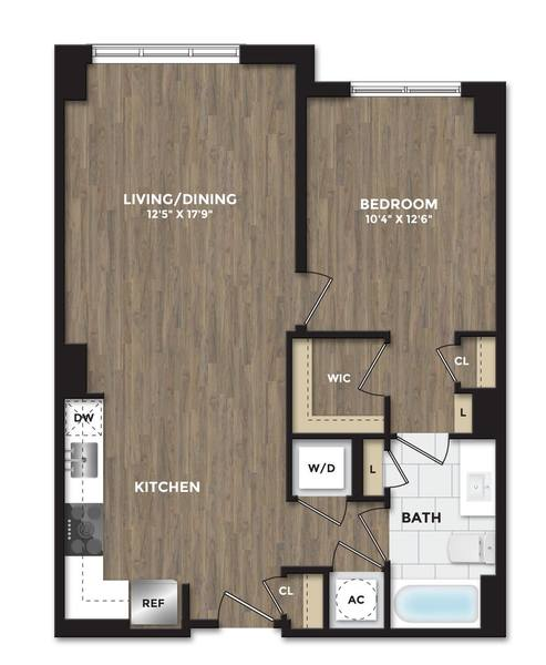 A 2D drawing of the A12 floor plan