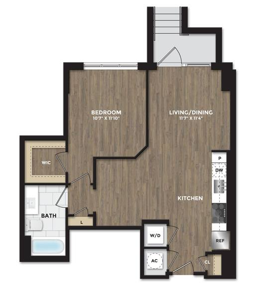 A 2D drawing of the A10a floor plan