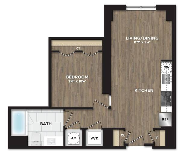 A 2D drawing of the A03 floor plan