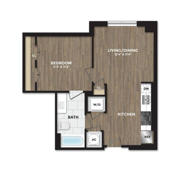 A 2D drawing of the A04 floor plan