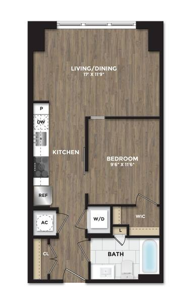 A 2D drawing of the A06 floor plan