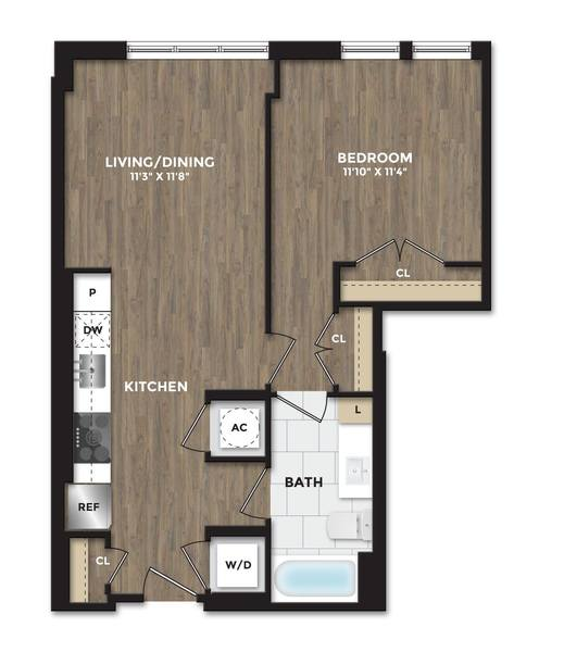 A 2D drawing of the A07 floor plan