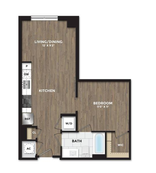 A 2D drawing of the A05 floor plan