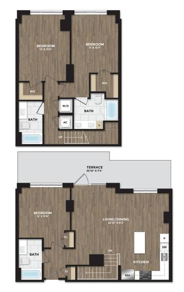 A 2D drawing of the C05 TH floor plan