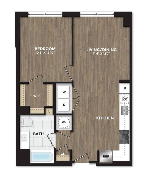 A 2D drawing of the A09a floor plan