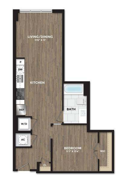 A 2D drawing of the A08a floor plan