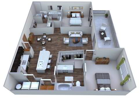 Floorplan Santa Fe layout