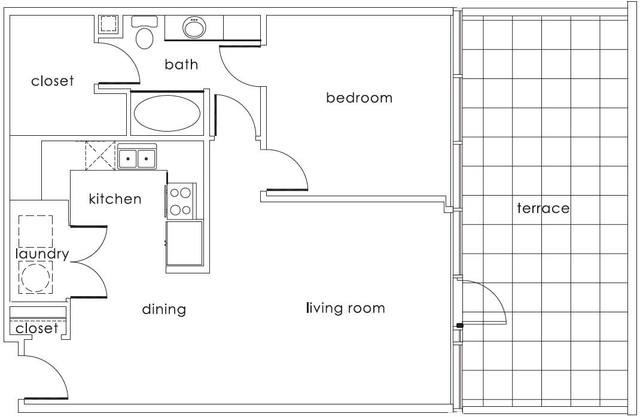 A 2D drawing of the A3 Main floor plan