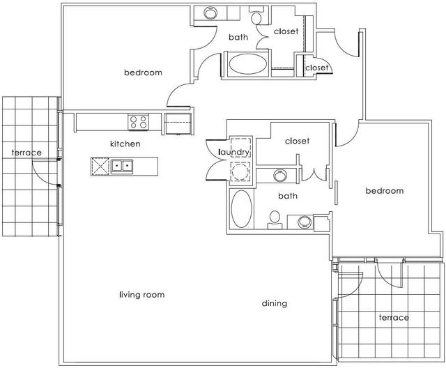 A 2D drawing of the B7 Main floor plan