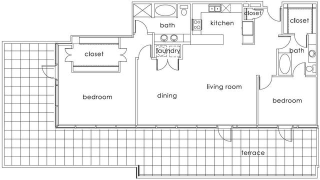 A 2D drawing of the B5 Main floor plan
