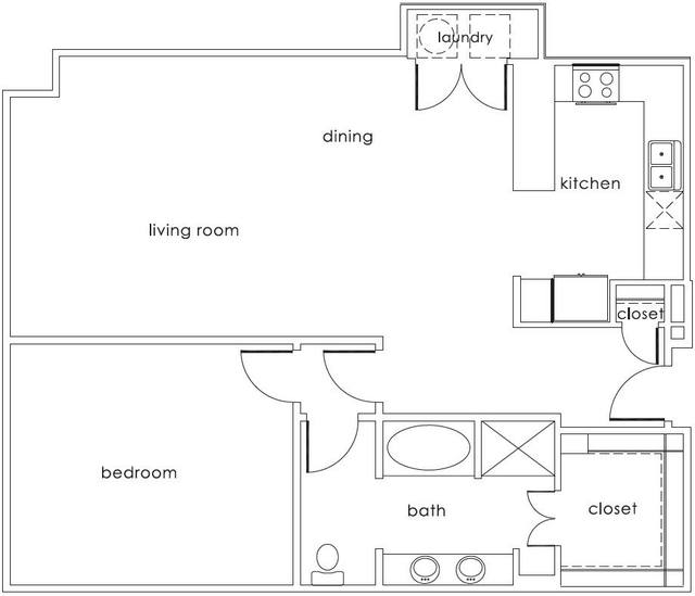 A 2D drawing of the A4 Main floor plan