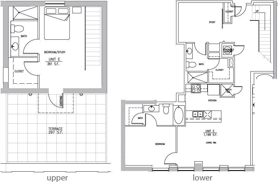 A 2D drawing of the B4 Elm floor plan