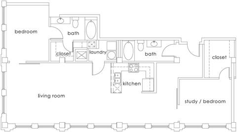 Floorplan B2 Gulf States layout