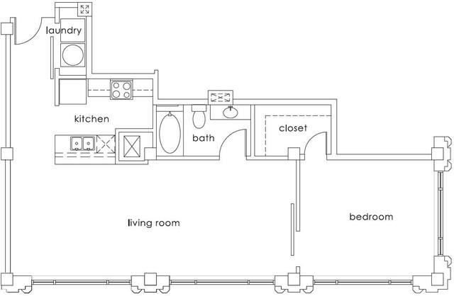 A 2D drawing of the A6 Gulf States floor plan