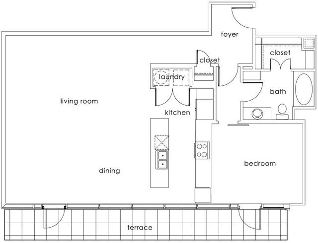 A 2D drawing of the A5 Main floor plan