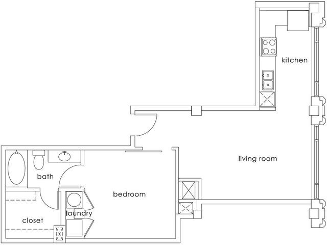 A 2D drawing of the A1 Gulf States floor plan