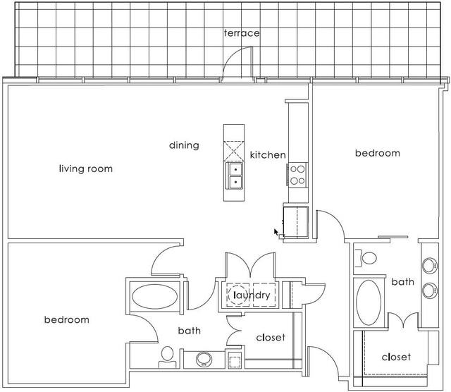A 2D drawing of the B3 Main floor plan