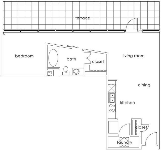 A 2D drawing of the A1 Main floor plan