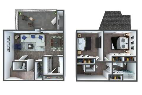 Floorplan B4 Townhome Renovated layout