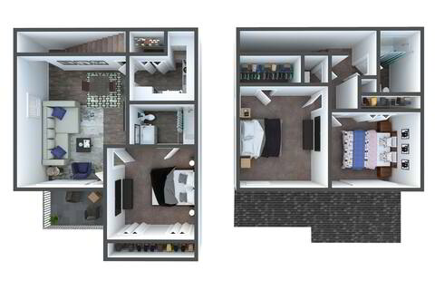 Floorplan C2 Townhome Renovated layout
