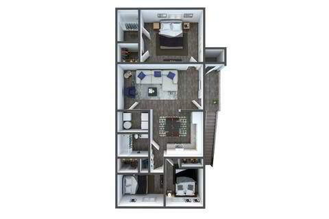Floorplan C1 Renovated layout