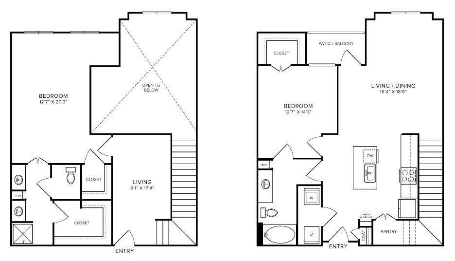 A 2D drawing of the T1 floor plan