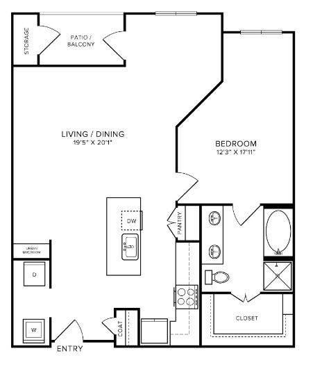 A 2D drawing of the A7 floor plan